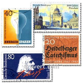 ALEMANIA OESTE: lote de 1000 sellos