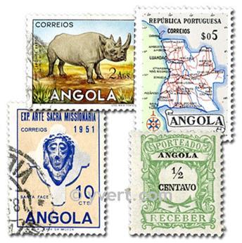 ANGOLA : pochette de 50 timbres