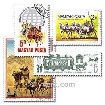 CARROS DE CABALLOS: lote de 50 sellos