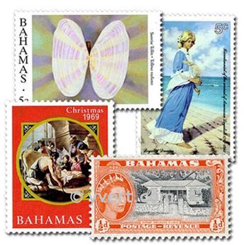 BAHAMAS : pochette de 50 timbres