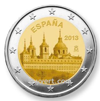 2 EURO COMMEMORATIVE 2013 : ESPAGNE (commémoration du site royal de Saint-Laurent-de-l'Escurial)