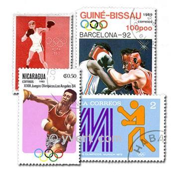 BOXE : pochette de 100 timbres