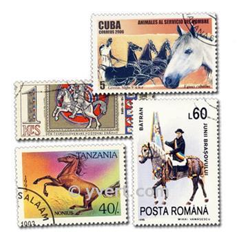 CHEVAUX  : pochette de 500 timbres