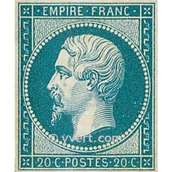n° 14B obl. - Napoléon III (Empire Non dentelé)