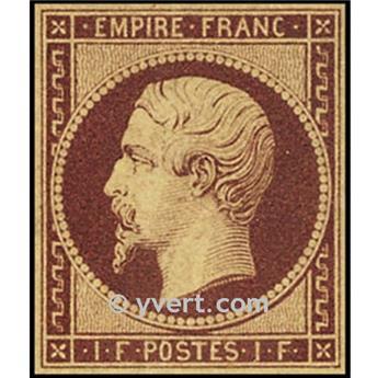 n° 18 obl. - Napoléon III (Empire Non dentelé)