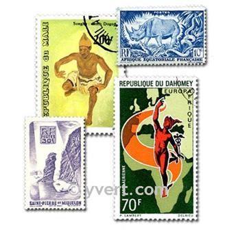COLONIAS FRANCIA A. DE LA INDEPENDENCIA: lote de 100 sellos