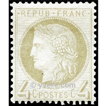 n° 52 obl. - Type Cérès dentelé (IIIe République)