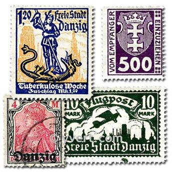 DANZIG: envelope of 25 stamps