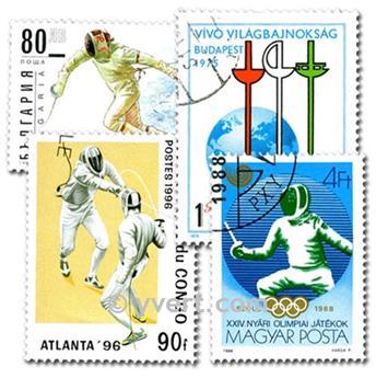 ESGRIMA: lote de 25 sellos