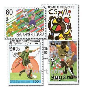 FUTEBOL: lote de 800 selos