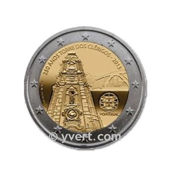 2 EURO COMMEMORATIVE 2013 : PORTUGAL (250e anniversaire de la construction de la Tour des Clercs)
