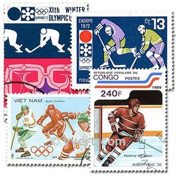 HOCKEY SUR GLACE : pochette de 50 timbres