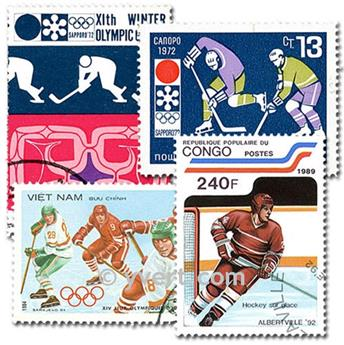 ICE HOCKEY: envelope of 50 stamps