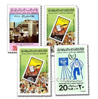 LIBYE : pochette de 200 timbres