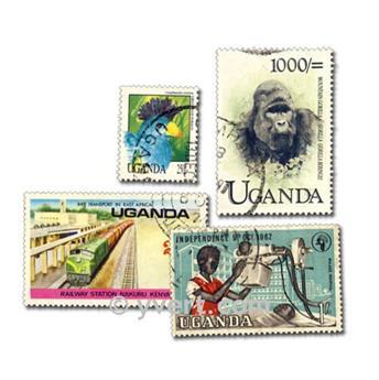 OUGANDA : pochette de 50 timbres