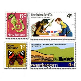 NOUVELLE ZELANDE : pochette de 500 timbres