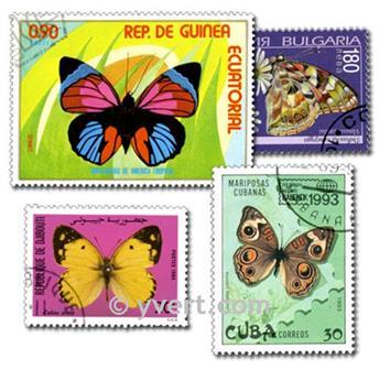 PAPILLONS : pochette de 700 timbres