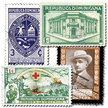 DOMINICAN REPUBLIC: envelope of 300 stamps