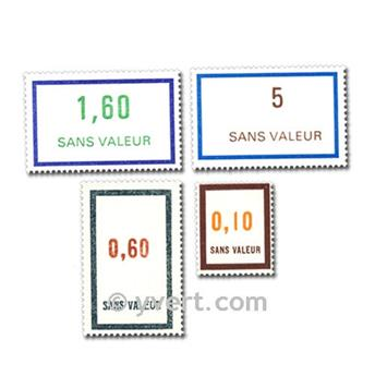 FALSE FRANCS: envelope of 100 stamps