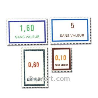 FRANCE FICTIFS : pochette de 100 timbres
