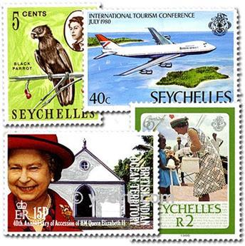 SEICHELES: lote de 25 selos