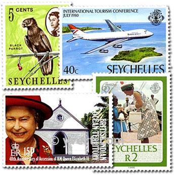 SEYCHELLES: lote de 25 sellos