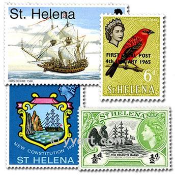 SANTA HELENA: lote de 25 selos