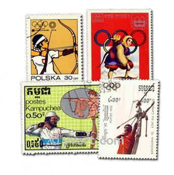 ARCHERY: envelope of 25 stamps
