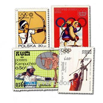 TIR A L´ARC : pochette de 25 timbres