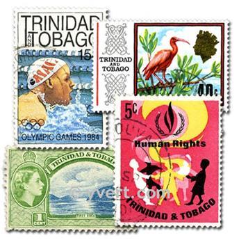 TRINITE ET TOBAGO : pochette de 50 timbres
