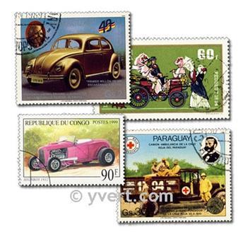 VOITURES : pochette de 200 timbres