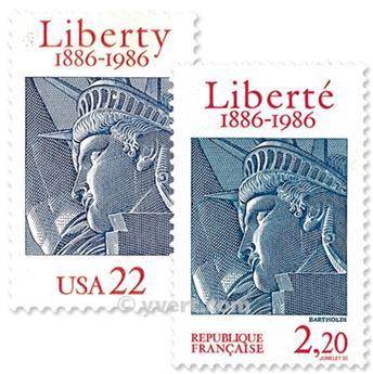 1986 - Emissão conjunta-França-Estados Unidos-(lote)