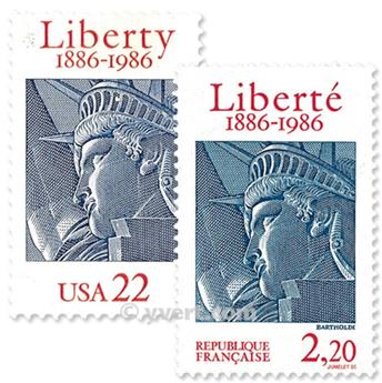 1986 - Joint issue-France-USA-(mounts)