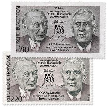 1988 - Emisiones comunes - Francia - Alemania (Fundas)