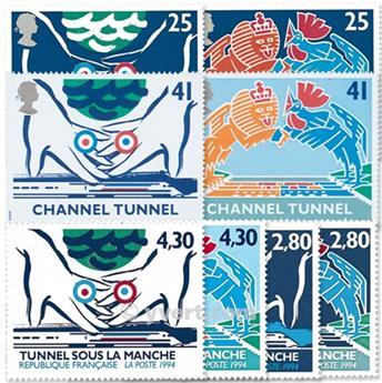 1994 - Emissão conjunta-França-Grã-Bretanha