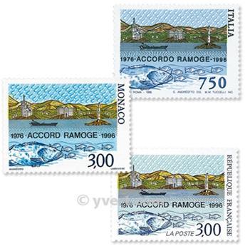 1996 - Emisiones comunes - Francia - Italia - Mónaco