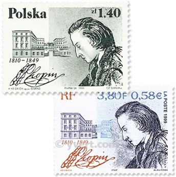 1999 - Joint issue-France-Poland-(mounts)