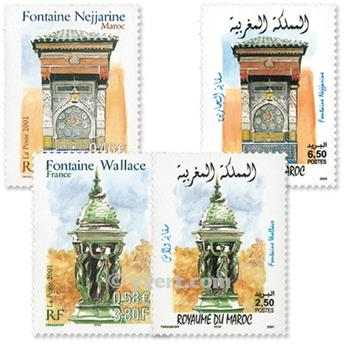 2001 - Emisiones comunes - Francia - Marruecos (Fundas)