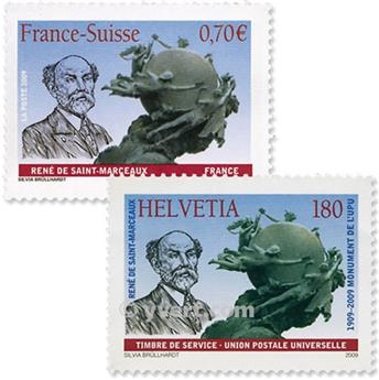 2009 - Joint issue-France-Switzerland-(mounts)