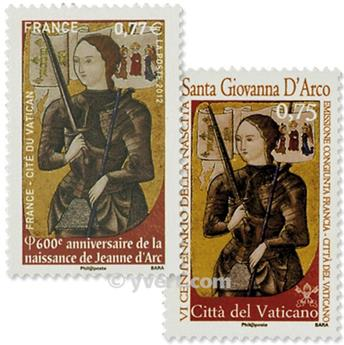 2012 - Joint issue-France-Vatican