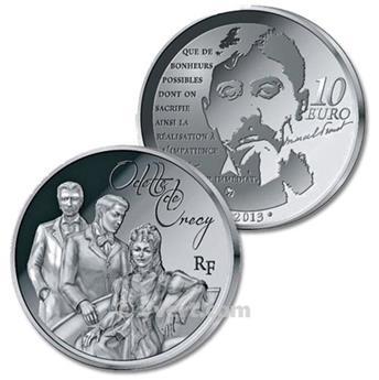 10 EUROS ARGENT - FRANCE - ODETTE DE CRECY