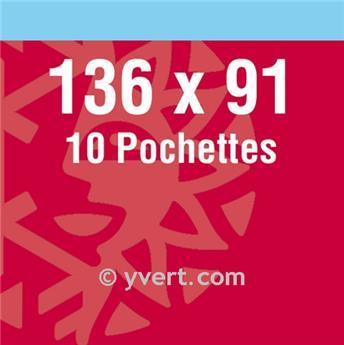 Pochettes double soudure - Lxh:131x86mm (Fond noir)