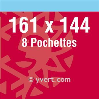 Pochettes double soudure - Lxh:161x144mm (Fond noir)