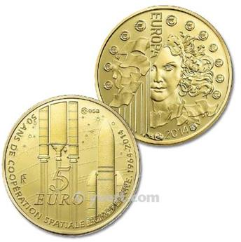 BE : 5 EUROS OR - FRANCE 2014 - EUROPA
