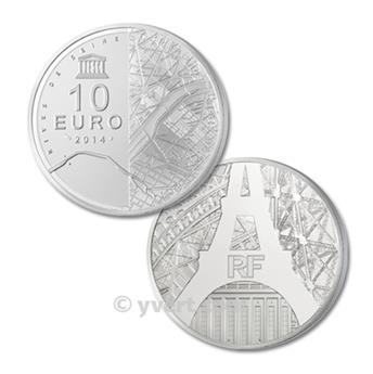 10 EUROS PRATA - FRANÇA 2014 - UNESCO