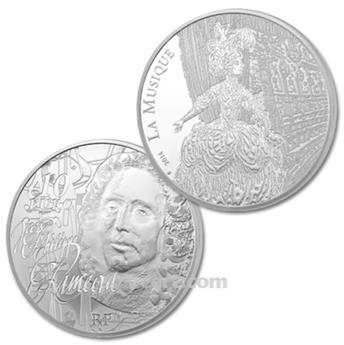 10 EUROS ARGENT - FRANCE - RAMEAU