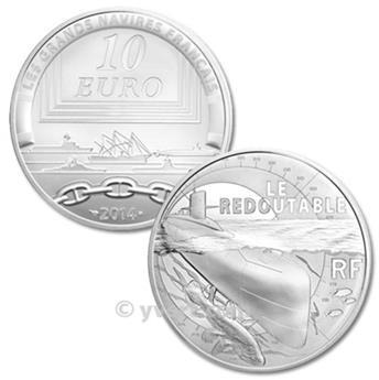 10 EUROS PLATA - FRANCIA - LE REDOUTABLE - PRF 2014