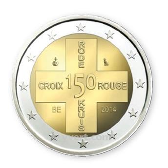 2 EURO COMMEMORATIVE 2014 : BELGIQUE (150e anniversaire de la Croix-Rouge)