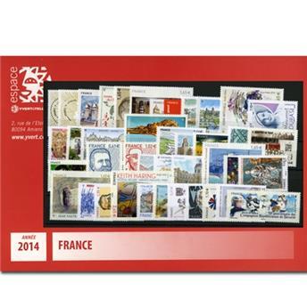 n° 4832/4922  - Timbre France Année complète  (2014)