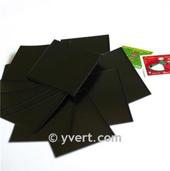 Pochettes simple soudure - Lxh:74x235mm (Fond noir)